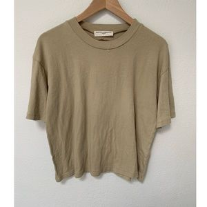 NWOT URBAN OUTFITTERS Tee Tan Open Back Medium